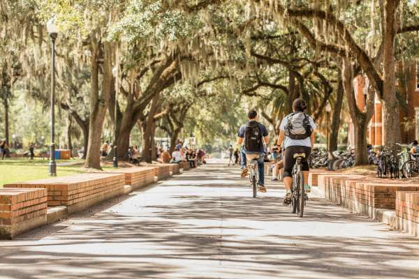 UF students biking